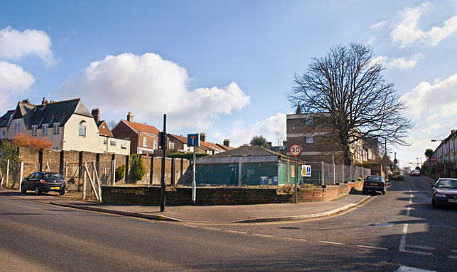 The site for the new Tesco store on corner of Unthank Road and Trinity Street, Norwich
